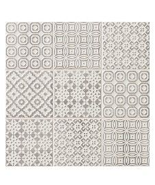 Batik Patchwork Grey Tile Patterned Kitchen Tiles