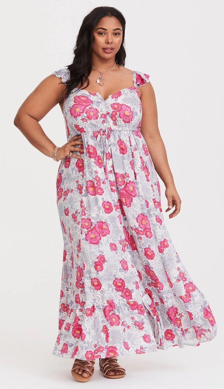 Plus Size Summer Maxi Dress #plussize | Plus Size Fashion | Pinterest