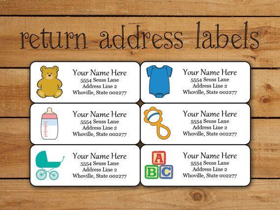 Baby Return Address Label Sticker Set Avery Template For Avery