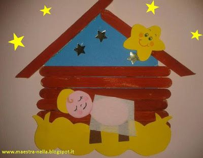 Maestra nella lavoretto natalizio con gli abbassalingua for Idee per l accoglienza nella scuola dell infanzia