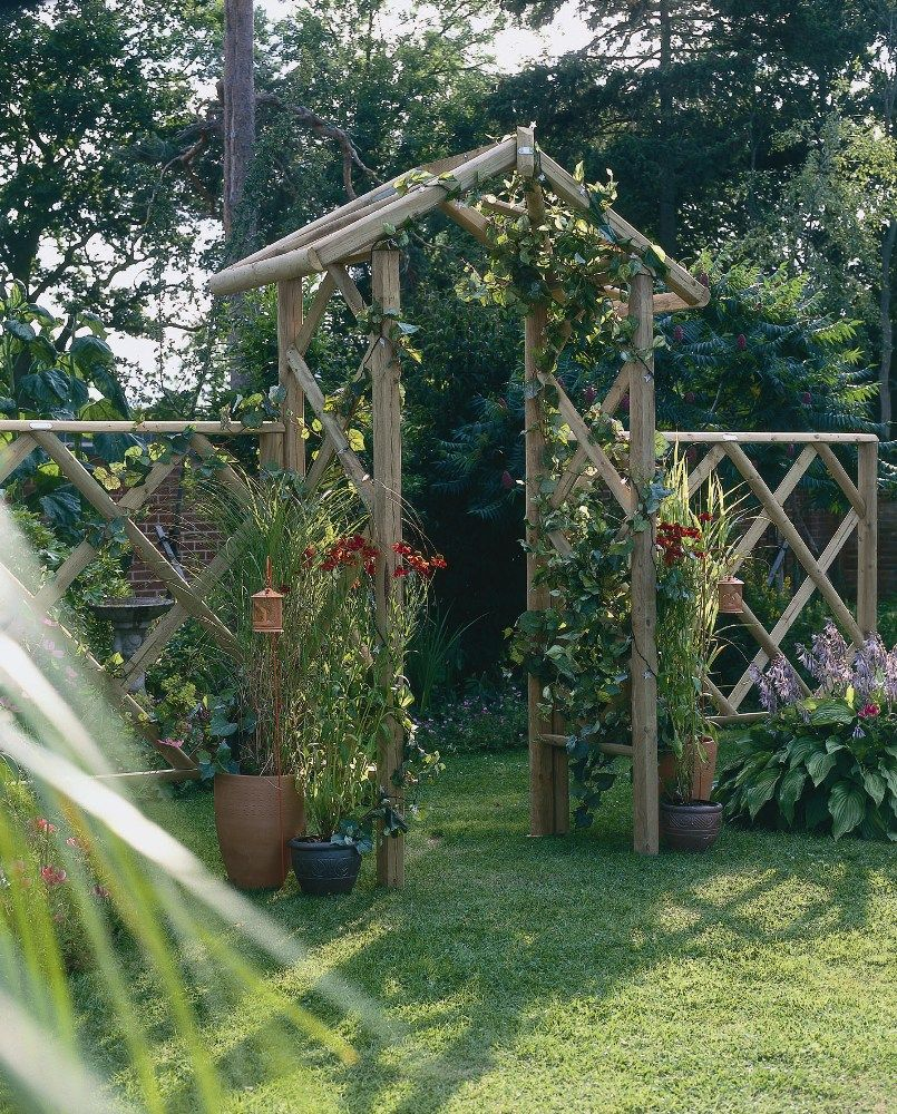 Forest Rose Arch A traditional rose garden arch made from ...