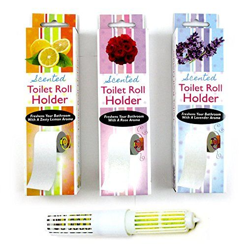 6 Assorted Scented Toilet Tissue Paper Roller Holders Roll