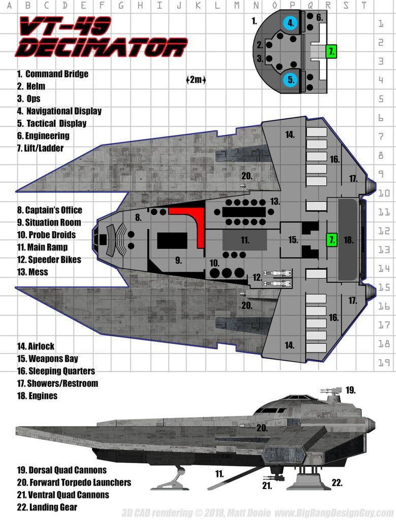 Vt 49 Decimator Deck Plan By Ravendeviant Star Wars