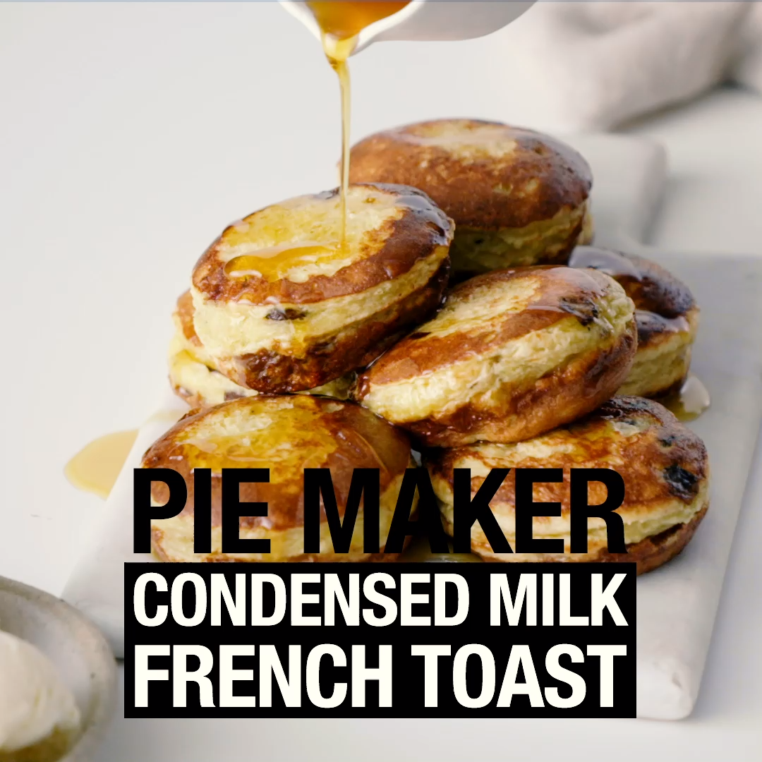 Pie Maker Condensed Milk French Toast Video Recipe Video Pies Maker Mini Pie Recipes Mini Pie Maker