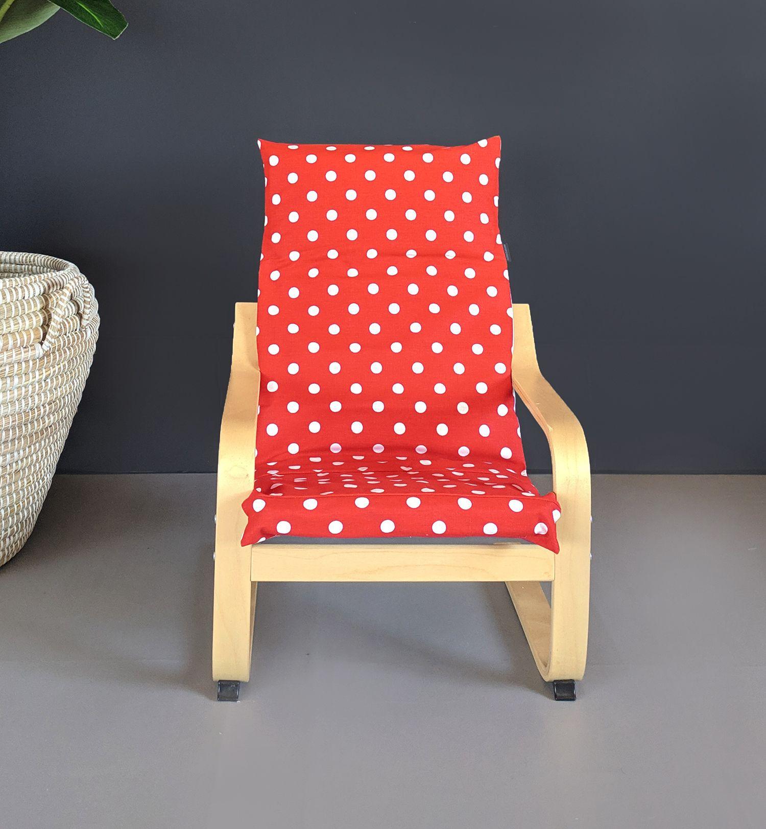 Red Polka Dot IKEA KIDS POÄNG Cushion Slipcover in 2020