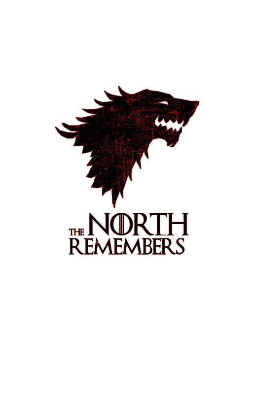 *NEW* Game of Thrones The North Remembers Poster House Stark Wolf