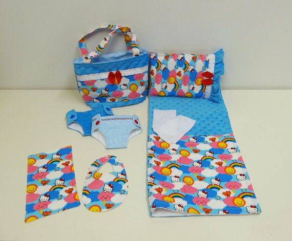 Bitty Baby Basics in Hello Kitty in the Clouds  by cupcakecutiepie, $42.00