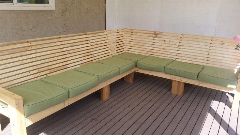 Homemade Outdoor Couch Patio Garden Furniture Saskatoon