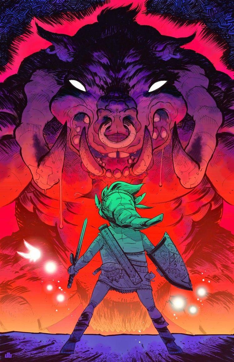Legend of Zelda illustration by Dylan Burnett