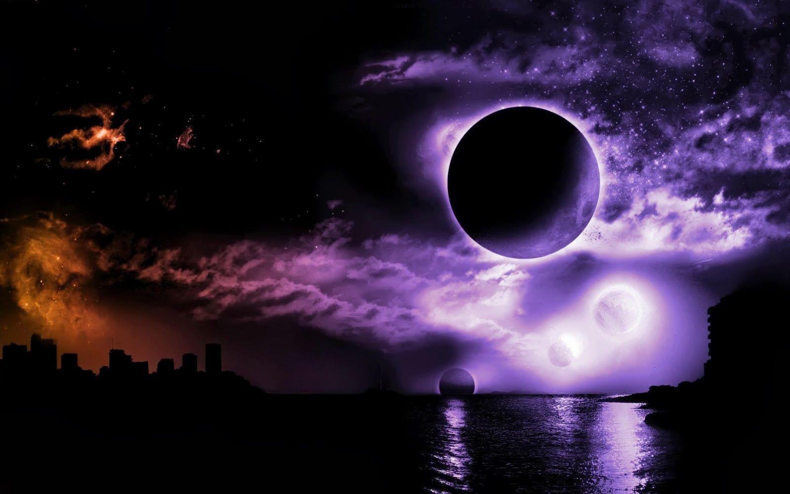 Trippy Space Wallpaper 1080p Dczey Sukur Xyz Anime Art Dark Dark Moon Dark Anime