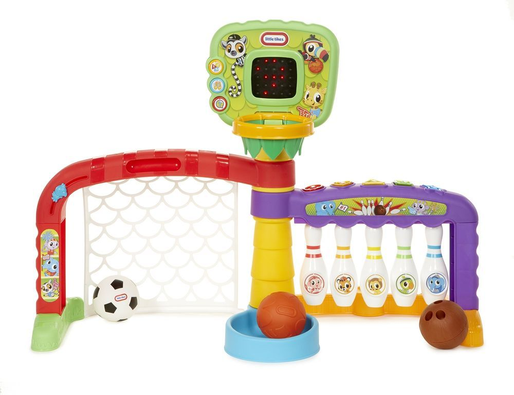 Football Toys For Boys : Kids sports center shots football basketball bowling play for toys