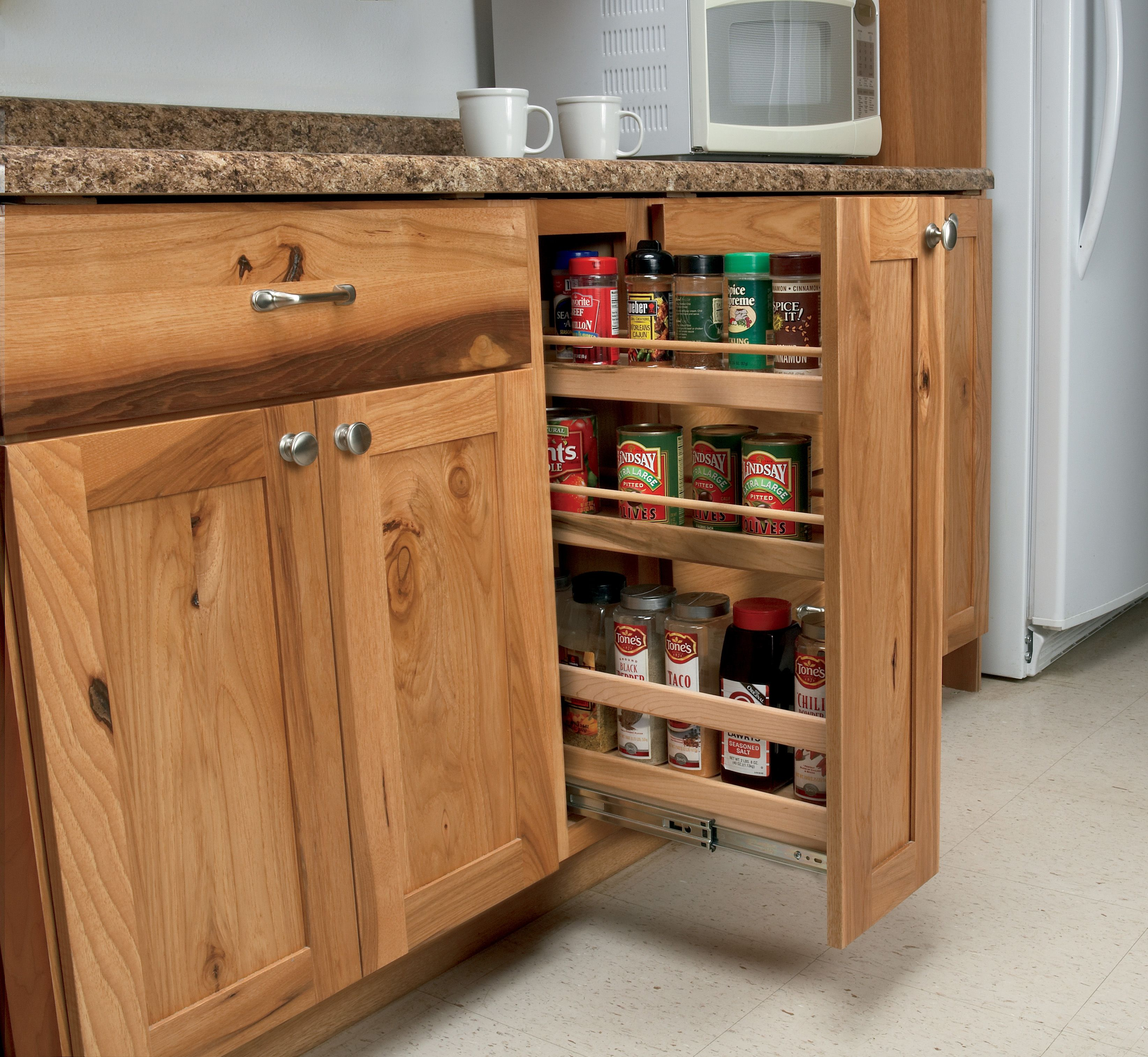 Kitchen And Bathroom Remodeling Contractors: Woodland Cabinetry - Pull Out Pantry