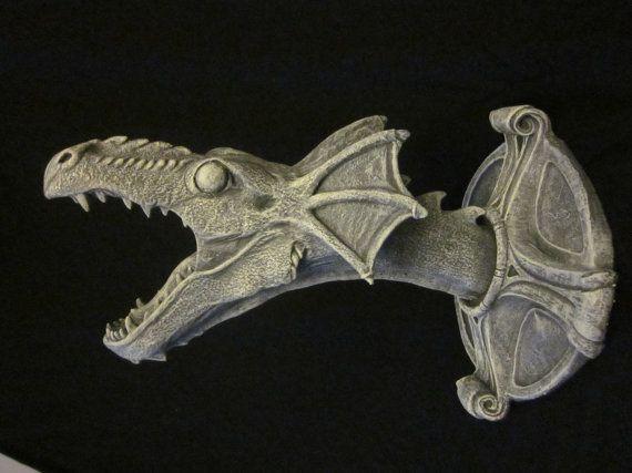 Gothic Dragon Wall Mount Halloween or by MacabreInsideStudios