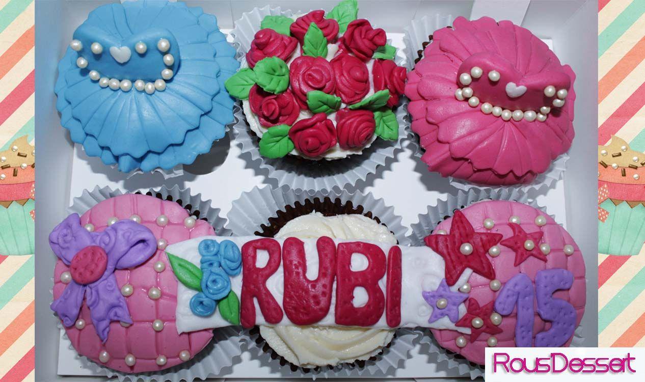 Cupcakes personalizados de 15 años