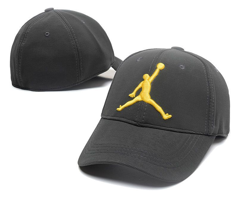 af7f1547cf3 Men s   Women s Air Jordan The Jumpman 3D Logo Flexfit Dad Hat - Charcoal    Gold