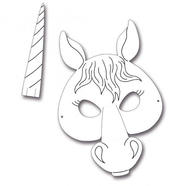 kindermasken pferd 6er pack basteln masken kinder masken basteln und masken. Black Bedroom Furniture Sets. Home Design Ideas