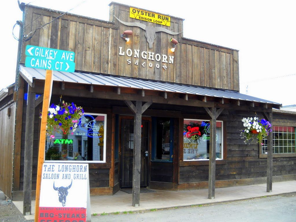 Longhorn Saloon Grill 5754 Cains Ct Bow Wa Serving Burgers And Up Dated Pub Fare In A Old West Style Saloon Outdoo My Favorite Food Saloon Outdoor Seat