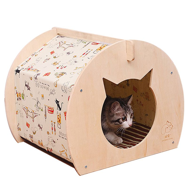 Ger Carton Design Pet KennelsSummer High Quality DIY Wooden Dog or Cat Tent Wood Soft Dog House Indoor for Small Dogs Bed  sc 1 st  Pinterest : cat tent indoor - memphite.com