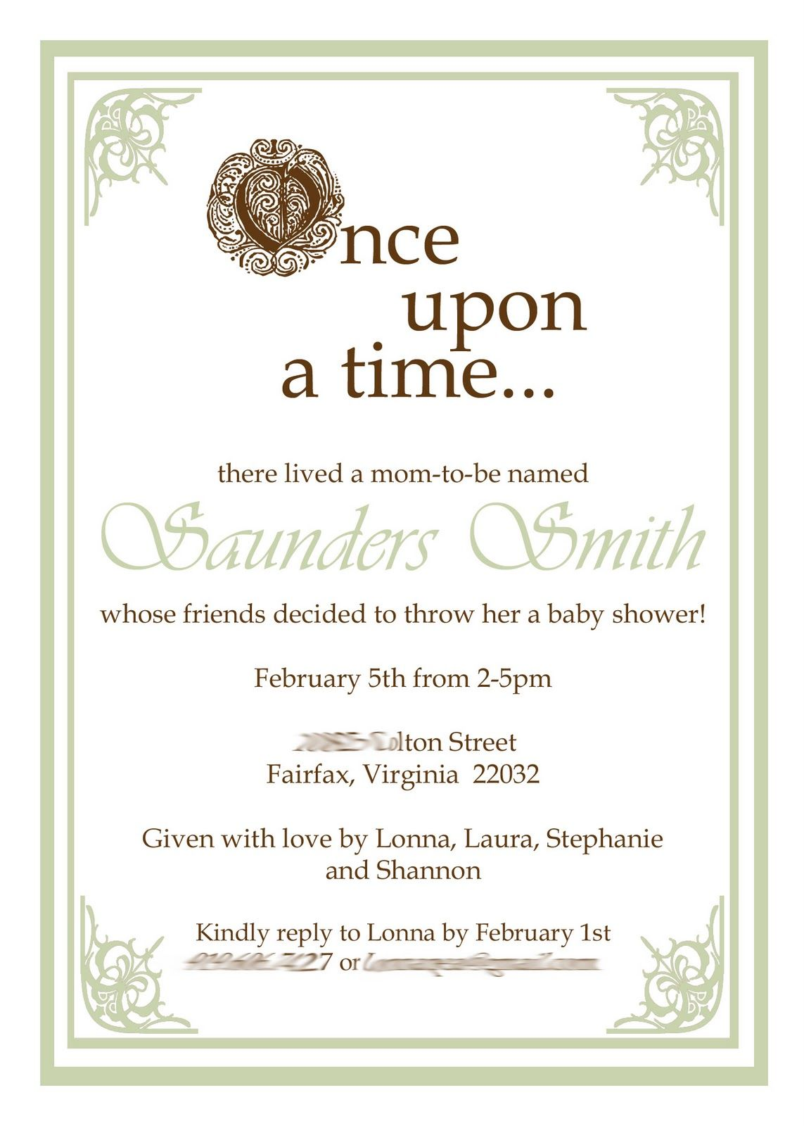 Once Upon a Time Fairy Tale Baby Shower | Snow White Baby Shower ...