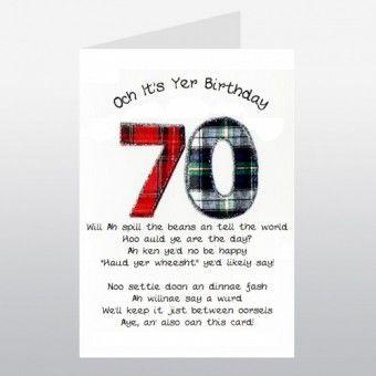 Birthday card 70 happy birthday 70 scottish keepsake card paper birthday card 70 happy birthday 70 scottish keepsake card m4hsunfo