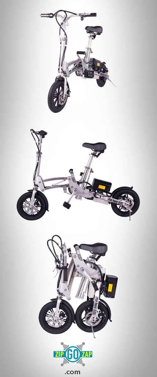 Folding Electric Bicycle. Check out the price at http://www.zipgozap.com