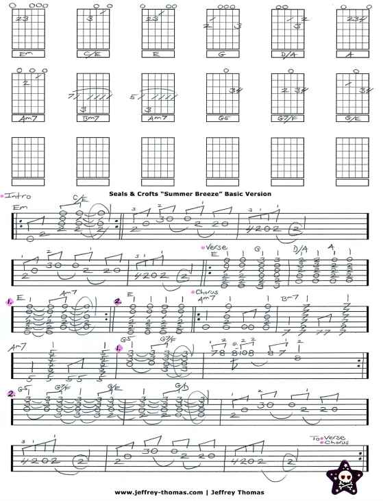 Seals & Crofts Summer Breeze Guitar Tab by Jeffrey Thomas. Learn to ...