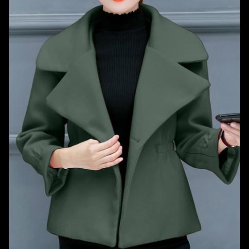 جاكيتات رسميه نسائية شتوي بياقة عريضة جاكيتات سادة من الصوف الثقيل بأكمام طويلة وعريضة الجاكيتات متوفرة بألوان Formal Shorts Short Jacket Jackets