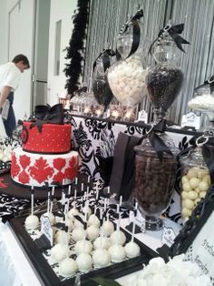 black tie birthday dinner party decoration Google Search 25th