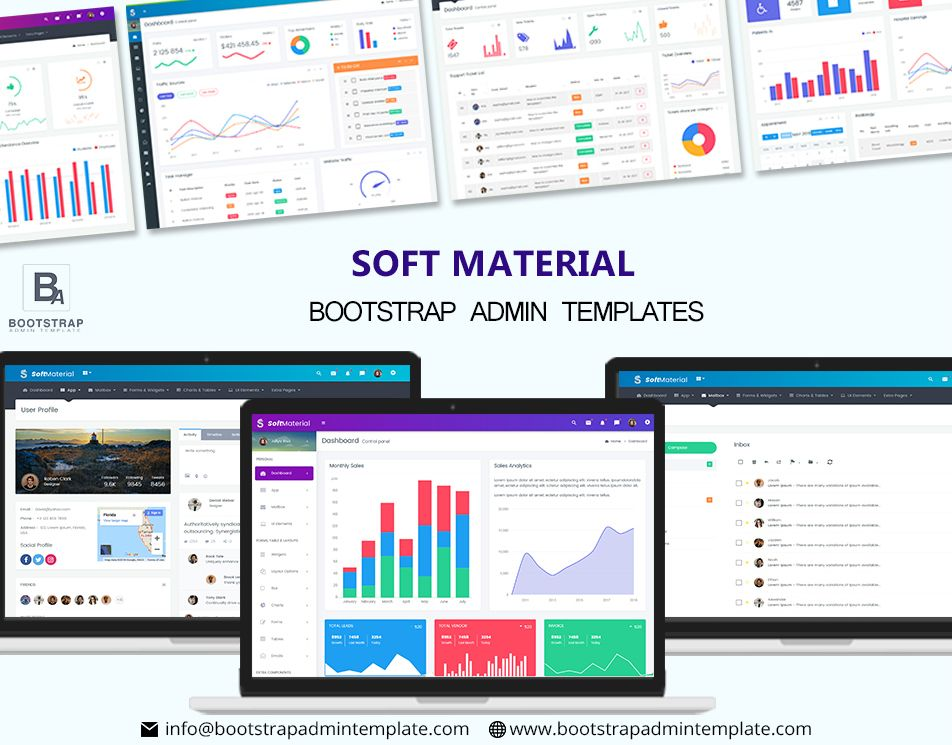 Soft Material – Bootstrap Admin Templates Web Apps & UI Kit