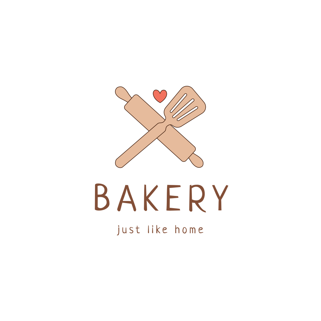 Rolling Pin Cooking Spatula Logo Pin Logo Bakery Logo Design Logo Maker