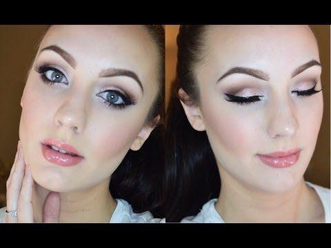 Rose Gold Smokey Eye Makeup Tutorial Prom Makeup Blue Eyes Blue Eye Makeup Gold Dress Makeup