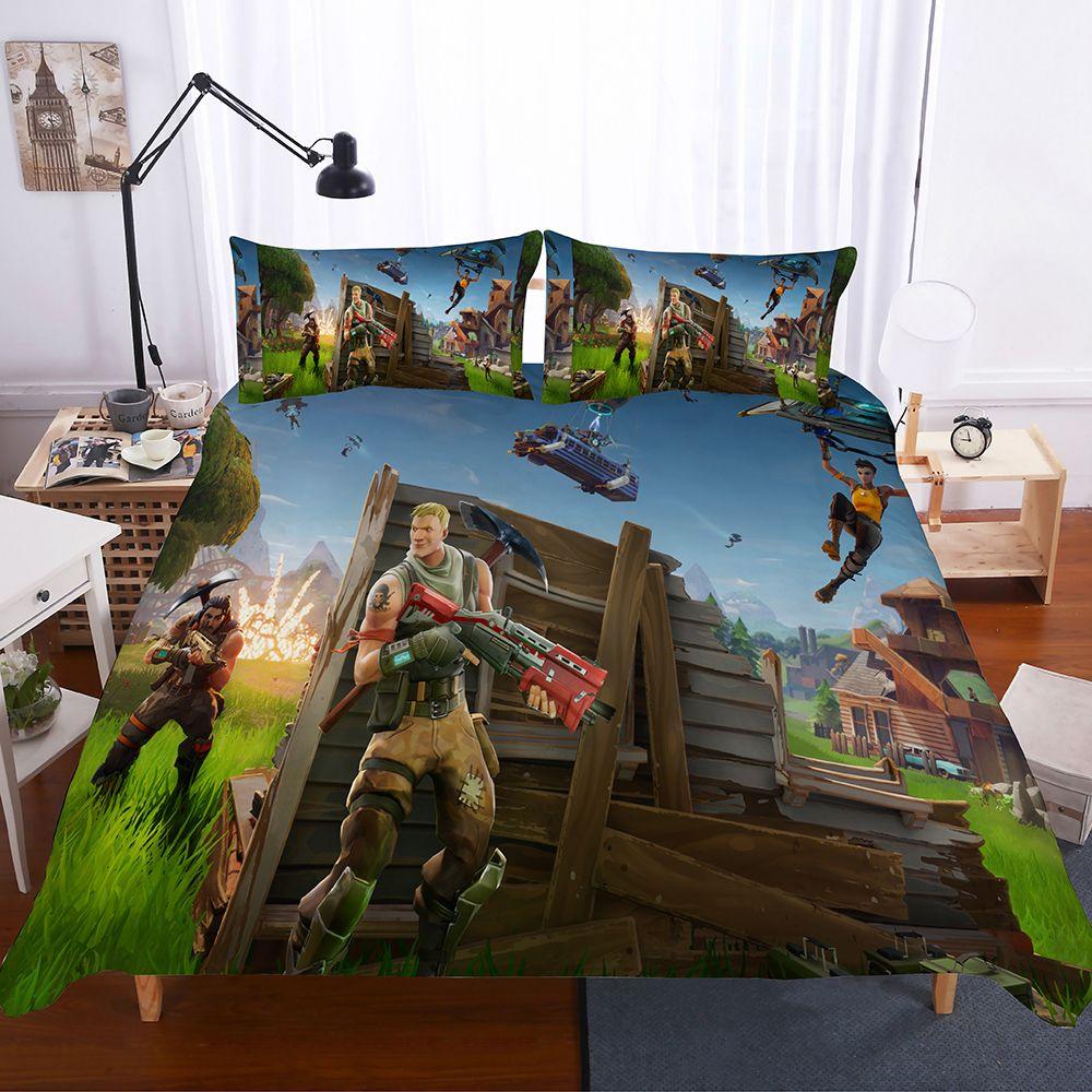 2019 game theme night fortnite printed bedding set duvet. Black Bedroom Furniture Sets. Home Design Ideas