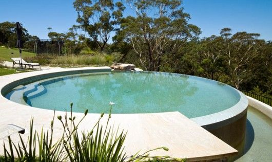 Round Natural Swimming Pool Can Be Used As Spa Or Plunge Pool Plunge Pool Swimming Pool Designs Stock Tank Pool