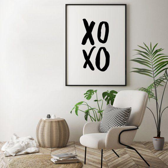 Xoxo Bedroom Poster Decor Gift Sleep Wall Art Modern Room Prints Minimalistic Home Sign 178