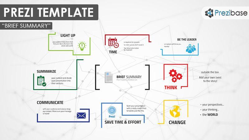 free prezi template to download - cogs and lightbulb Prezi - background report