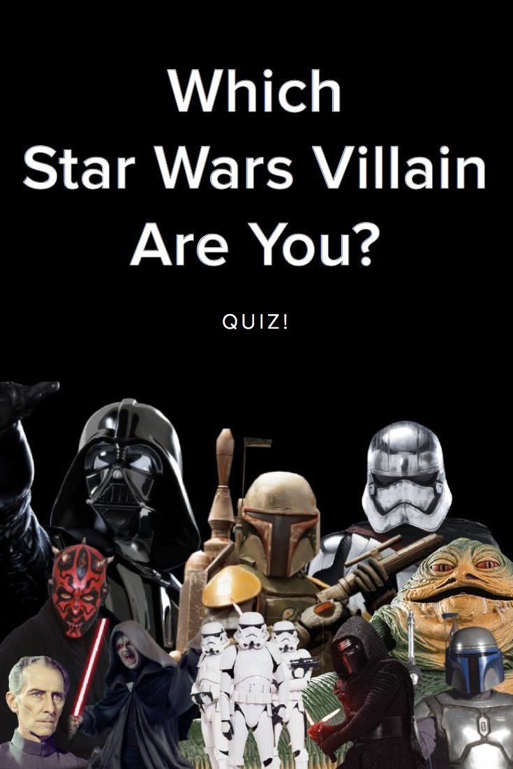 Which Star Wars Villain Are You Take This Quiz And Find Out Today Star Wars Villains Star Wars Quizzes Star Wars Memes