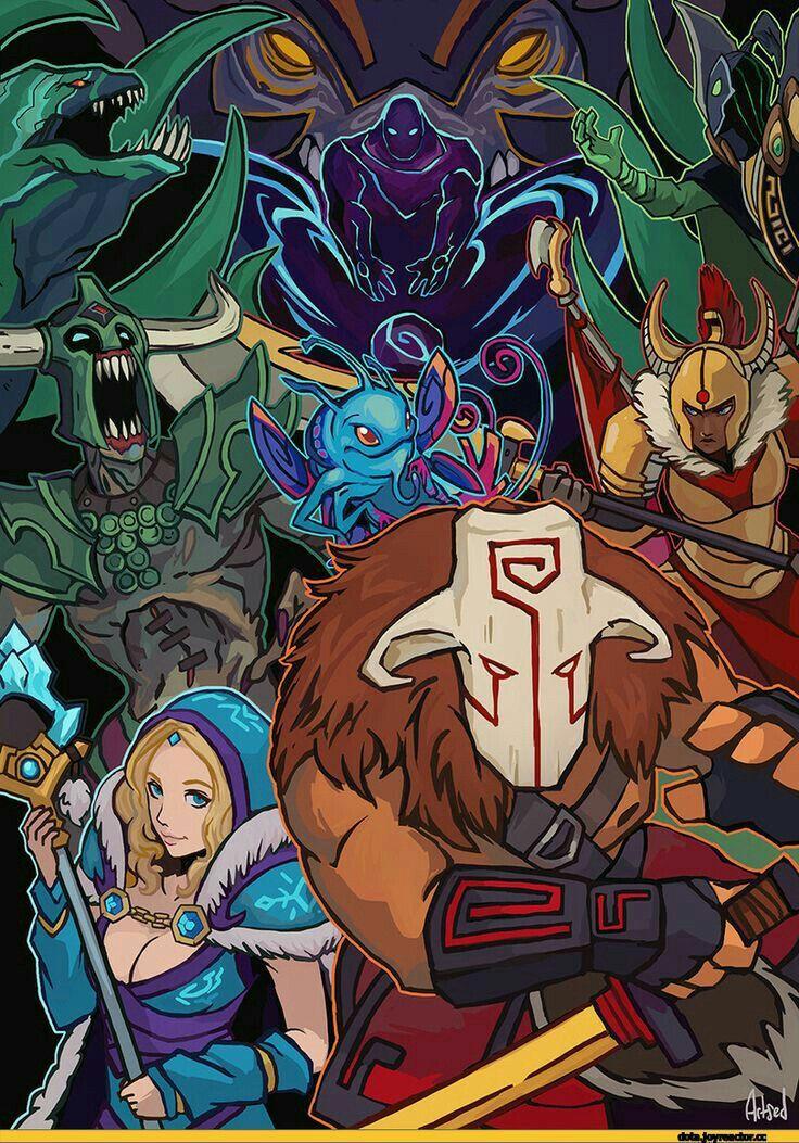 Dota 2 Heroes | dota 2 | História em quadrinhos e Desenhos
