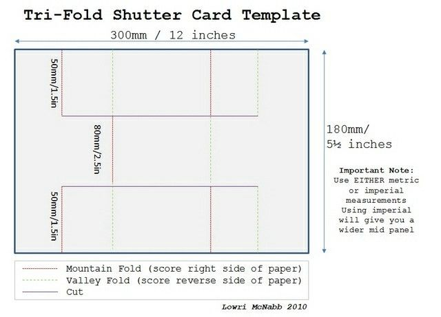 Template Tri Fold Cards Trifold Shutter Cards Folded Cards