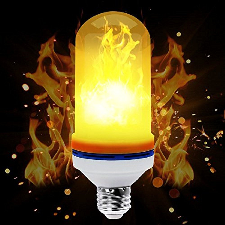 Flame Bulb Loomin E26 Led Flame Effect Fire Light Bulbs For Decoration Lighting On Christmas Halloween Outdoor Garden Firelight Outdoor Halloween Light Bulbs