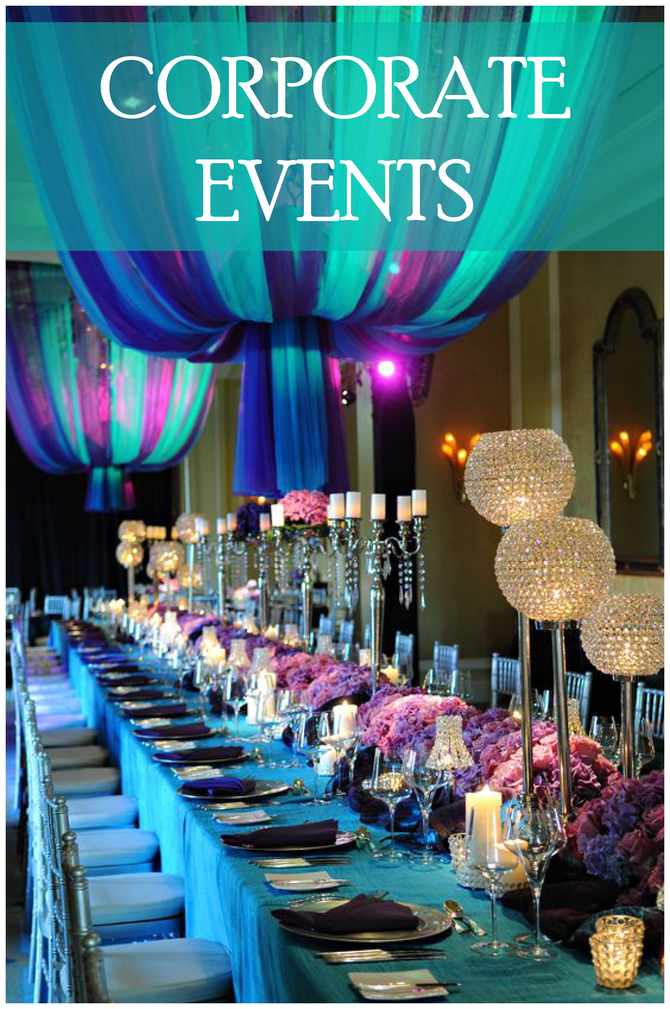 Corporate Event Design And Decor Ideas. Formal Dinner Setting, Beautiful  Centrepieces And Table Decorations For Events.