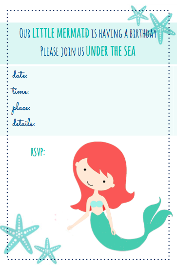 Free Printables Beachy Mermaid Party