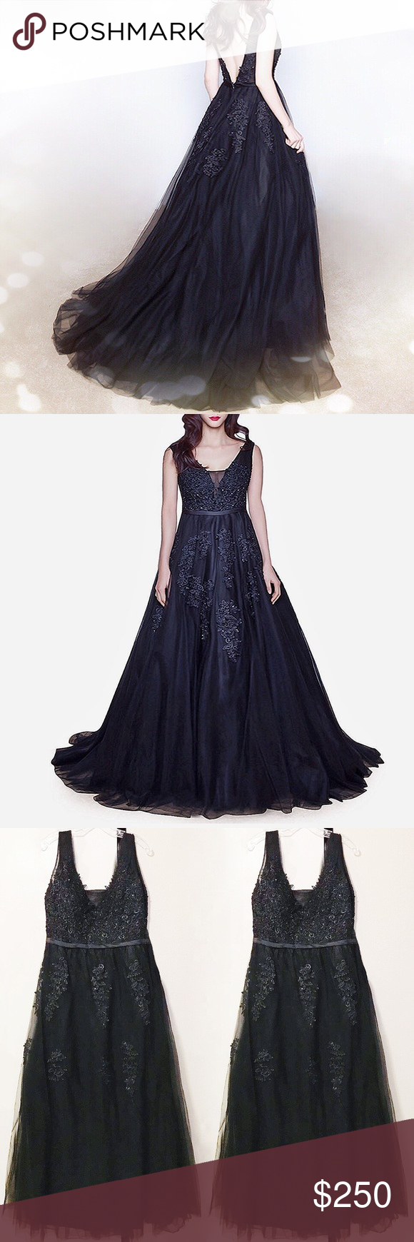 Regular plus flower fairy black wedding gown black wedding