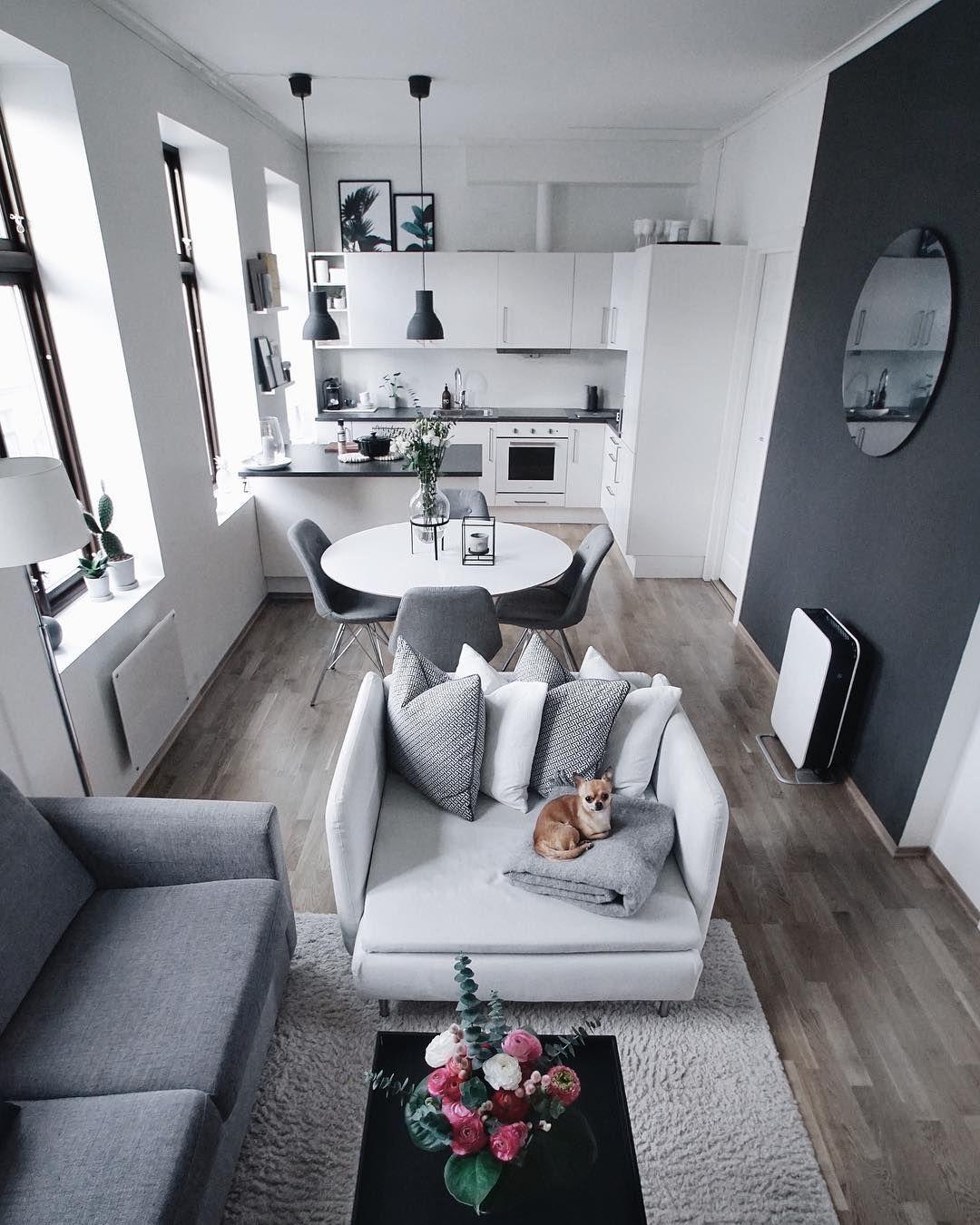 Blanco gris deco sal n en 2019 pinterest casas hogar y decoraci n de casas peque as - Disenador de interiores online ...