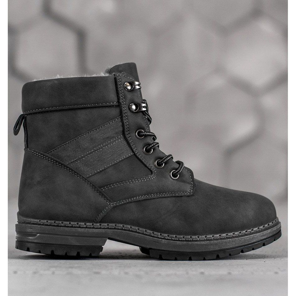 Shelovet Szare Buty Zimowe Winter Shoes For Women Boots Winter Boots