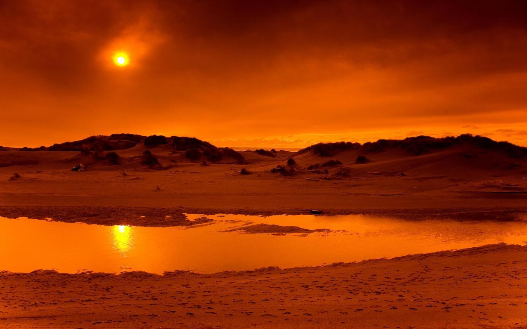 Orange Desert Sunset Sunset Wallpaper Beautiful Landscape Wallpaper Landscape Wallpaper Hd wallpaper sunset desert trees bushes