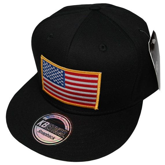 KBethos U.S. American Flag Patch Snapback Cap - 5 Types Patches ... 9034e669daf