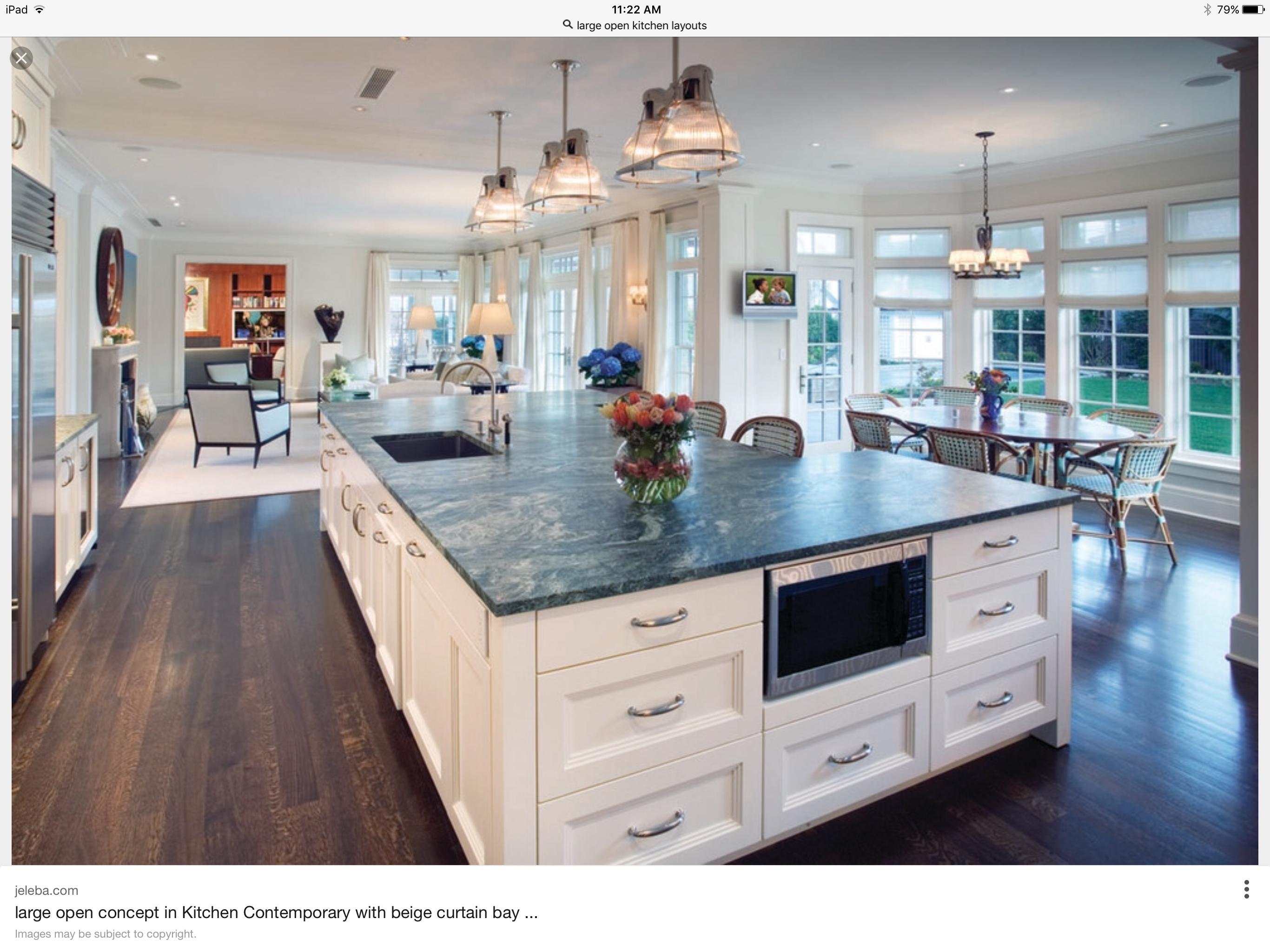 10+ Large Open Kitchen Pics   Handyman