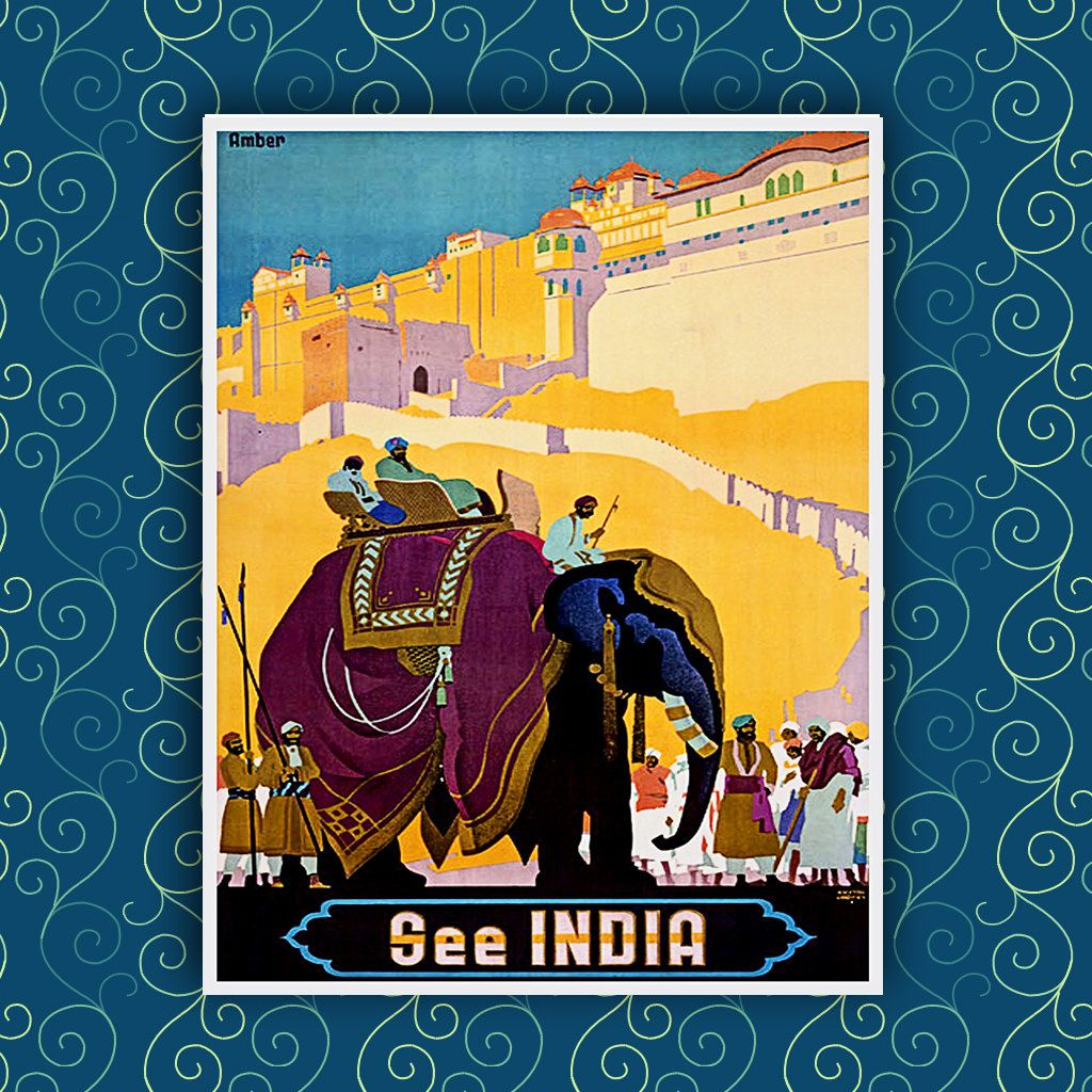 Wall Decor India Travel Poster 8x10 A229 by AtlasTravelArts   Baby ...