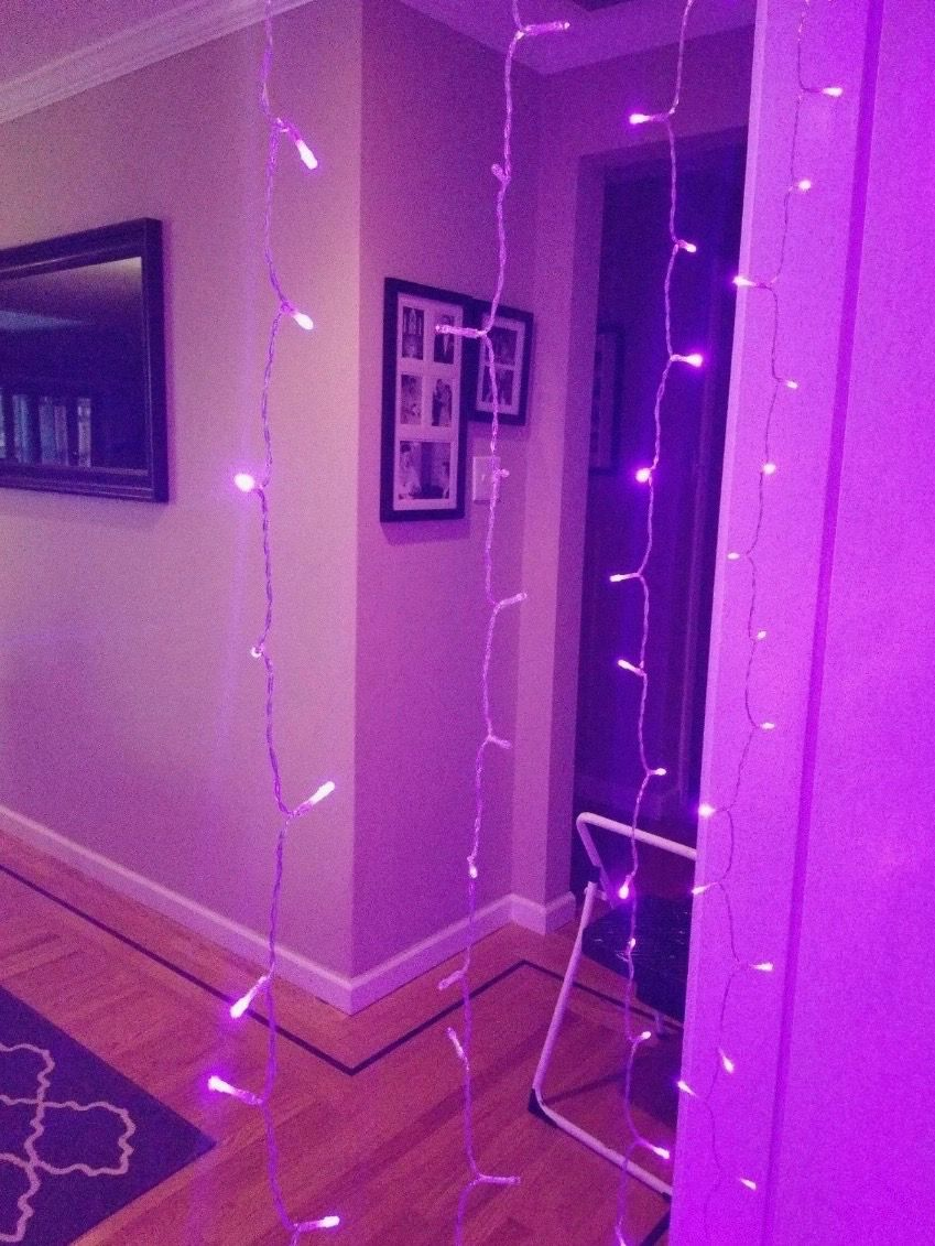 Purple Led Curtain Lights In 2020 Led Curtain Lights Curtain