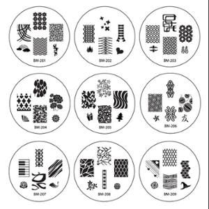 Bundle Monster 25pc Plate Nailart Nail Stamp Stamping Image Manicure Accessories